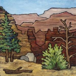 """Square Landscape #20"" original painting"
