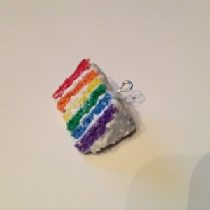 Rainbow Cake Charm - 50% OF PROFITS go to the It Gets Better Project!