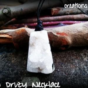 Druzy Quartz Pendant Necklace