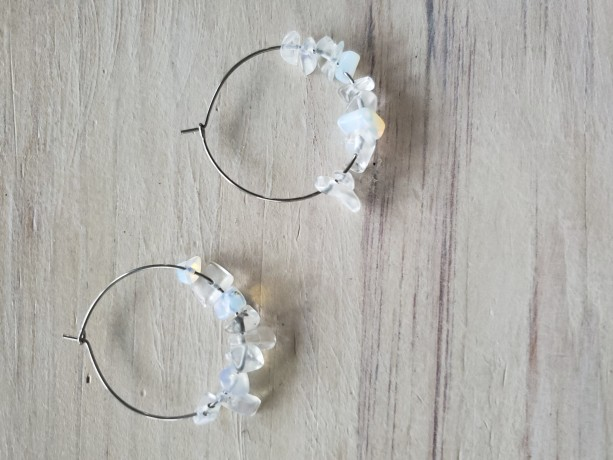 Moonstone Devotionaluxe Hoop Earrings