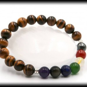 Tiger's Eye Chakra Beaded Bracelet to Boost Self-Confidence