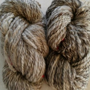 Handspun yarn-Romney-Wool- 3 skeins 328yds- super soft- knit- crochet- knitting supplies- gray yarn- silver yarn- silver-natural yarn
