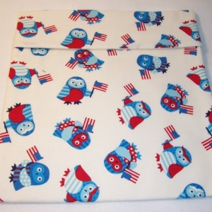 Patriotic Owls Microwave Bake Potato Bag,Home and Living,Kitchen,Gifts,Baked Potato,Dining,Serving