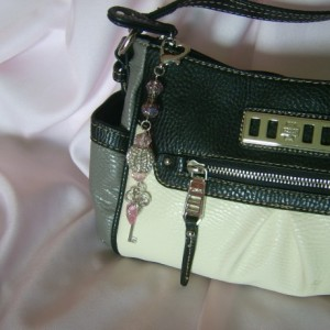 Heart and Key Handbag Charm
