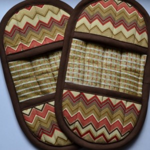 Brown Pot Holder - Pot Holder - Brown Hot Pad - Brown Oven Mitt - Oven Mitt - Brown Pot Grip - Finger Tip Pot Holder - Grill Mitt