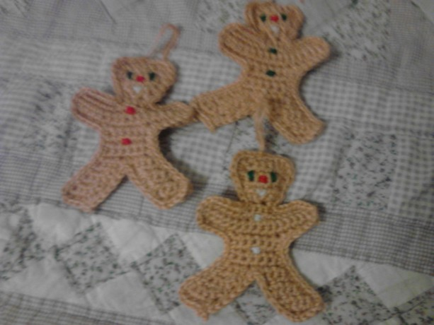 set of three teddy bear ornaments