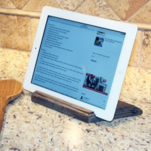 Beaudin Weathered Wood iPad Stand - Handcrafted Portable Tablet Stand