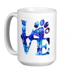 Dog Lover Mug - Love Paw Print 5 - Pet Lover - Dog Lover Gift - Cat Lover Mug - Pet Lover Gifts - Dog Coffee Mug - Cat Coffee Mug - Dog Mug