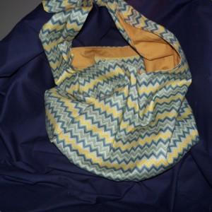 Olive Chevron Hobo bag