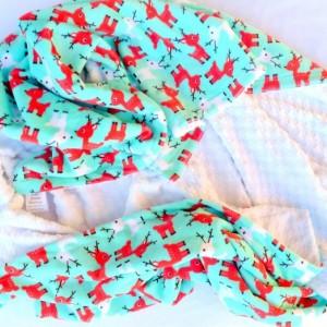 Kids Christmas Gifts - Christmas Gift for Kids - Christmas Blanket - Throw - Reindeer - Blanket - Minky Blanket - Kids Gift Ideas - Rudolf