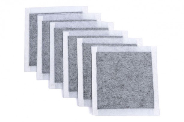 "SCENTOUT Human Scent Elimination Carbon Pads: 12 (4""x4"") Scent Neutralizer Pads with Adhesive Strips"