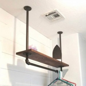 Farmhouse Laundry Room Storage Rack, 11.25