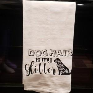 Custom flour sack kitchen towels!  Dog friendly! Set of 2