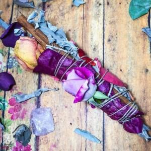 Abundance, Protection, Sage & Cinnamon Smudge Stick, Cleansing, Positive Vibes, Healing