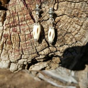 Bone Bead earrings
