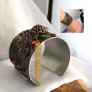 "2"" Aluminum HandPainted Artisan Cuff"
