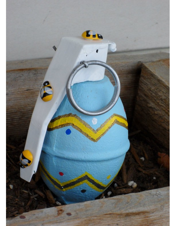 Easter Hand Grenade with Bees
