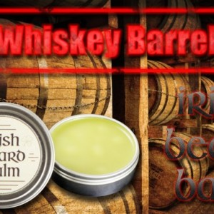 Irish beard balm Whiskey barrel 1/2  ounce sample tin
