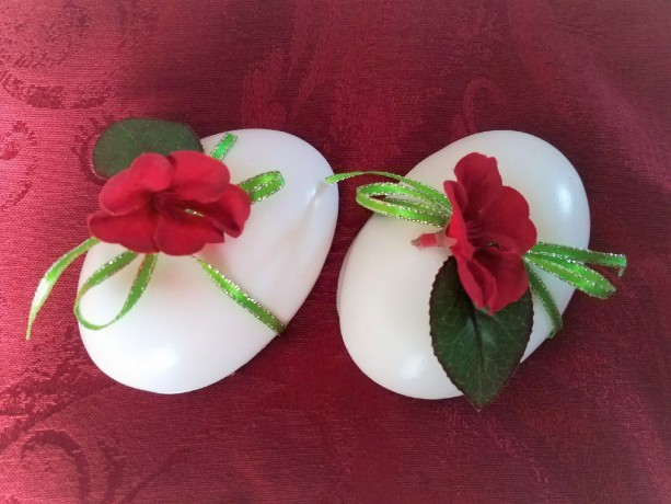 Eucalyptus and Goat Milk Oval Soap Pair with Rose Topper