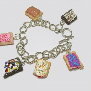 Toaster Pastry Charm Bracelet, Cookies and Cream, Cinnamon, Cherry, Hot Fudge Sundae, Strawberry, Wild Berry, Toastser Tart, Toaster Pop