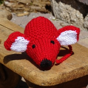 Baby Toy, Hand Knitted Mouse, Red Toy, Stuffed Small Toy, Stuffed Animal