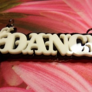 ballerina necklace,dance charms,dance necklace,holographic