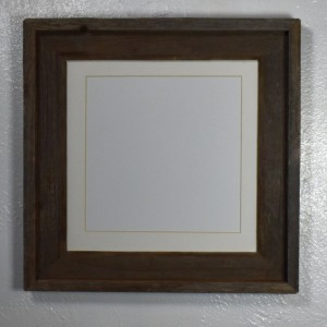 8x8 mat in 10x10 reclaimed wood picture frame 20 mat colors