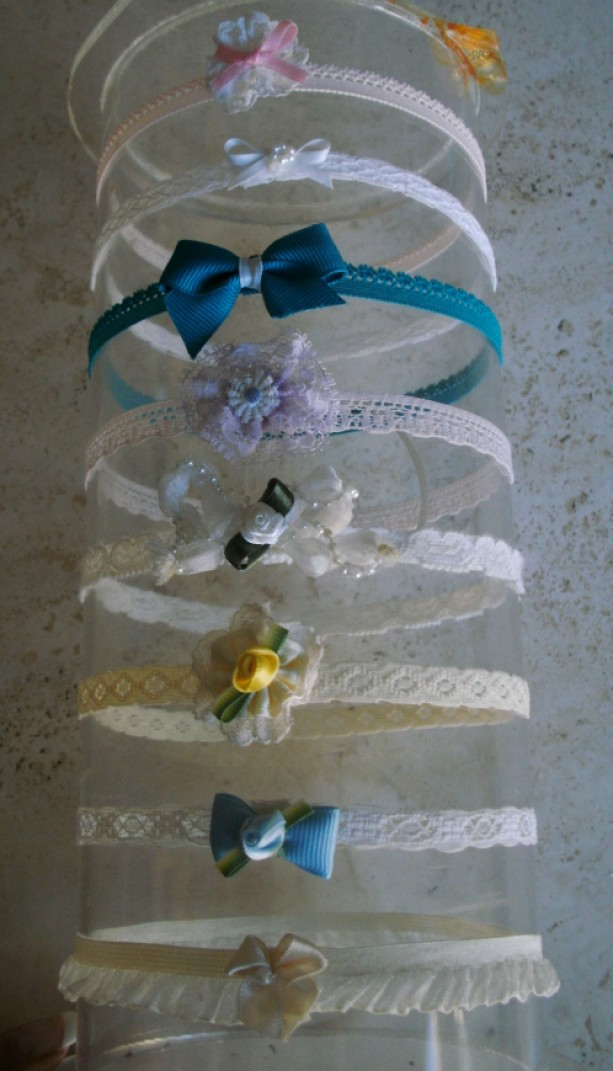 Infant Stretchy Lace Headband Set