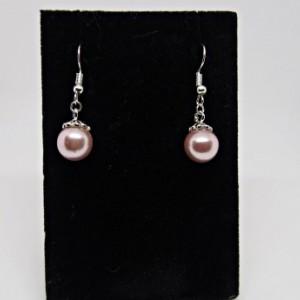 Pink Pearl Bead Earrings