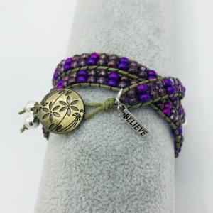 Inspirational Triple Wrap Bracelet