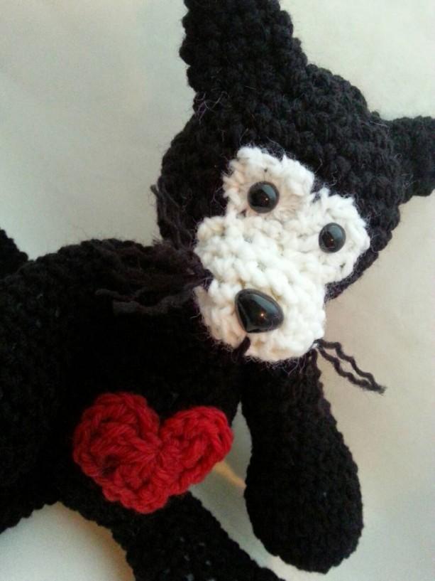 Crochet Plush Black Cat Amigurumi Children's Toy
