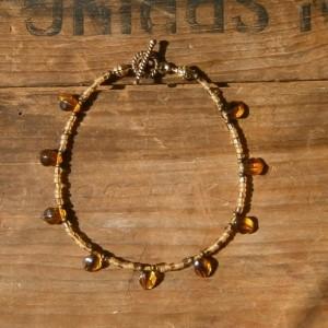 Amber leaf bracelet