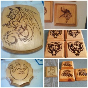 UNIQUE PERSONALIZED HANDMADE WOOD WALL PLAQUE PICTURE DRAGON MYSTIC CUSTOMIZABLE
