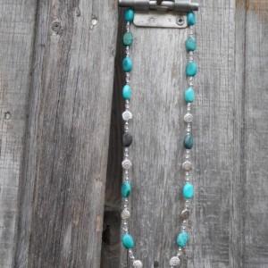 Necklace-Turquoise Southwest Style Disc Bead