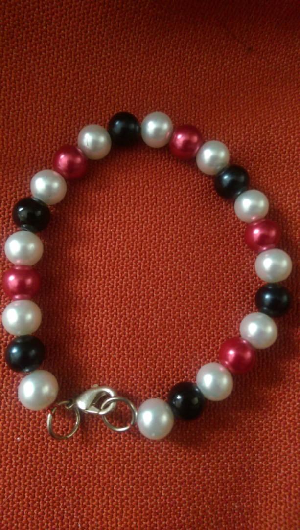 Multicolor Faux Pearl Bracelet