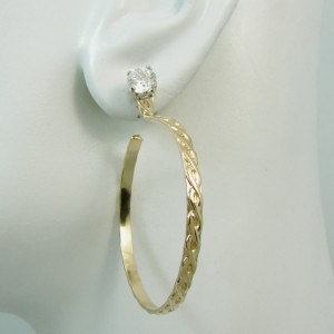EARRING JACKETS 14k Gold filled Dangle Hoop Diamond Enhancer Celtic Pattern Design Hoop JHCELT40MGF