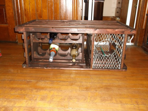 Coffee Table Wine Rack.Lobster Trap Coffee Table Wine Rack
