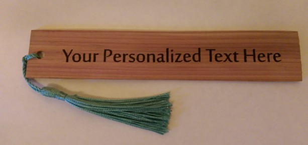 Personalized Cedar Wood Bookmark