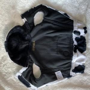 "XS Cow plush hoodie 15-16"" girth"