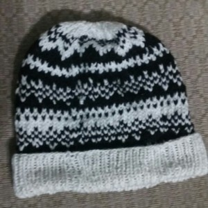 Fair Isle Knit Adult Hat