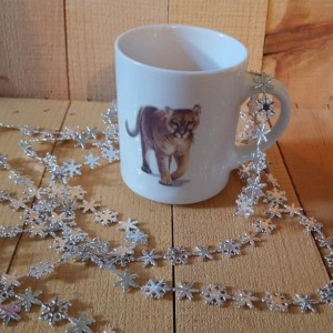 8 oz Coffee Mug, Cougar
