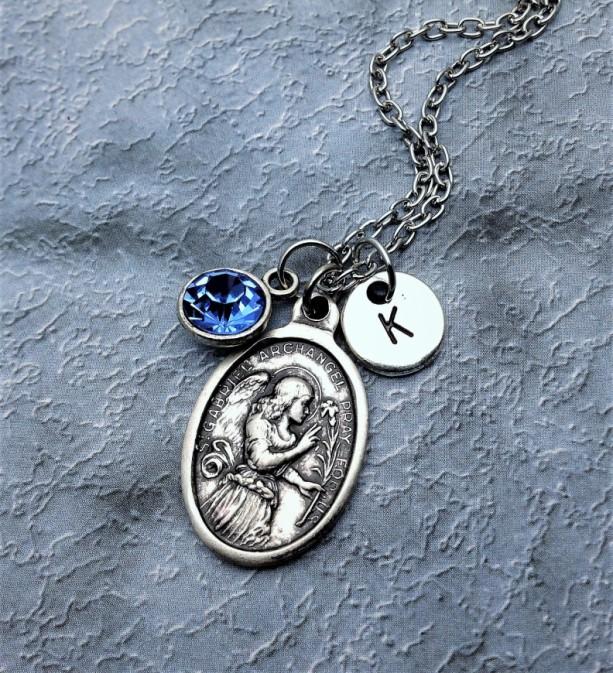 Personalazed Saint Gabriel Necklace