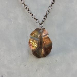 Form Folded Leaf Necklace