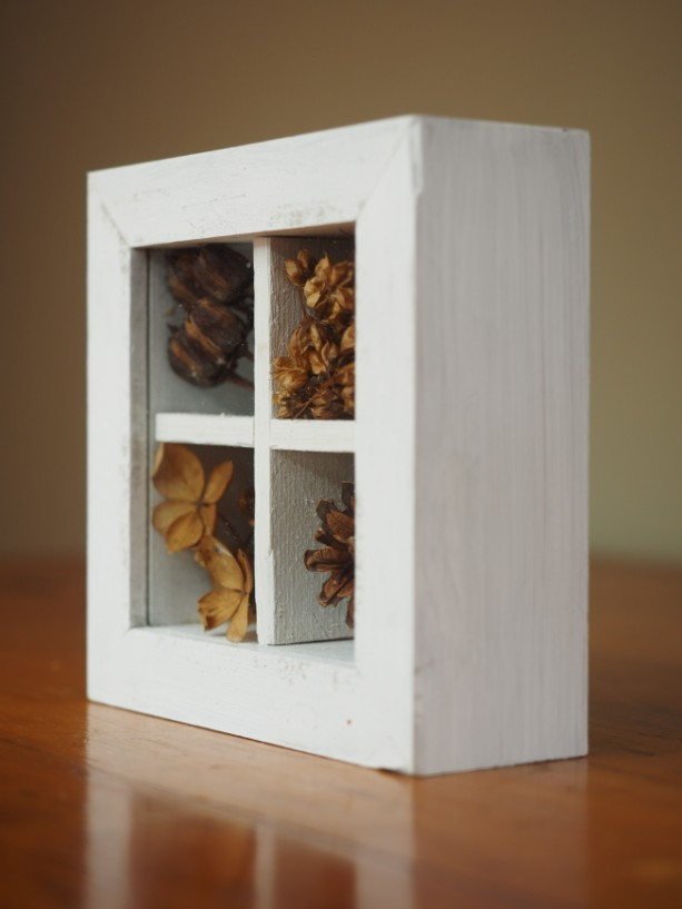 Rustic Shadow Box With Natural Objects Aftcra