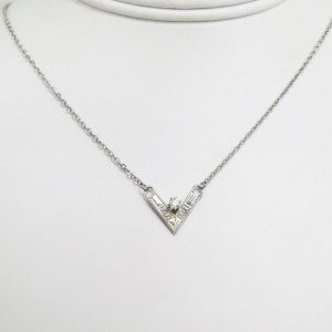 Sterling Silver and White CZ Angles Choker Necklace