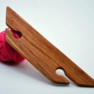 "4.5"" Weaving Shuttle For Inkle Weaving Card Or Tablet Weaving Belt Weaving Handcrafted From Red Oak"