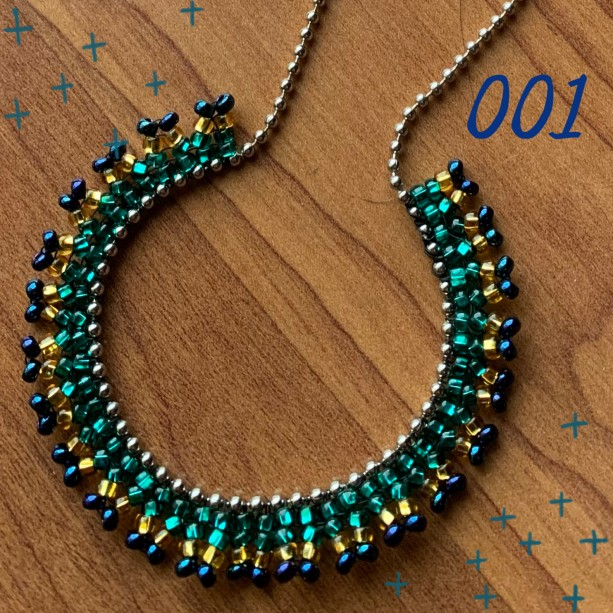 Ball Chain Necklace (Green)