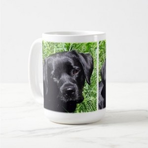 Black Lab Mug 7SJ - Labrador Mug - Black Lab Gifts - Labrador Gifts - Lab Dog - Lab Mom - Labrador Retriever - Black Dog Art - Black Lab Art