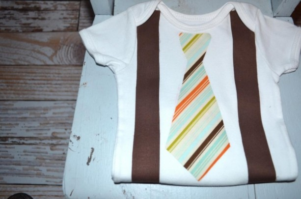 Little Mister Brown Striped Tie and Suspenders