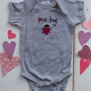 Love Bug  Original Design Onesie  or T-Shirt